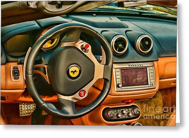 Steering Greeting Cards - Ferrari Steering Wheel Greeting Card by Paul Ward
