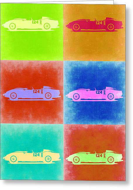 Ferrari Testarossa Pop Art 2 Greeting Card by Naxart Studio