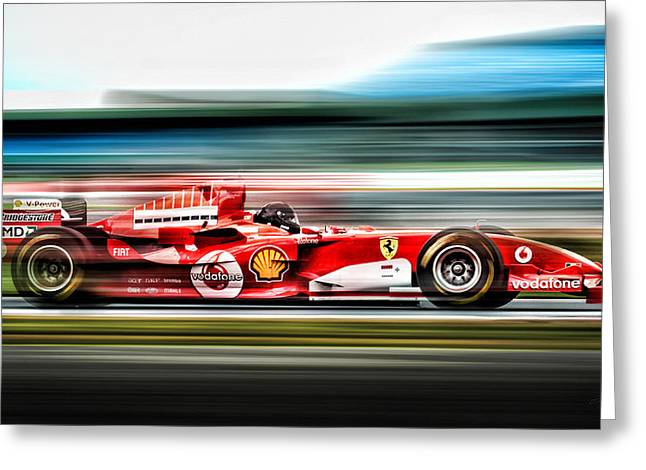 Engine Digital Greeting Cards - Ferrari Unbridled Greeting Card by Peter Chilelli