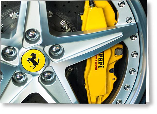 Ferrari Wheel 3 Greeting Card by Jill Reger