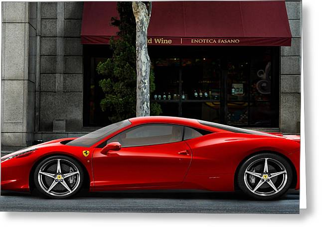 Italian Restaurant Digital Greeting Cards - Ferrari Wine Run Greeting Card by Peter Chilelli