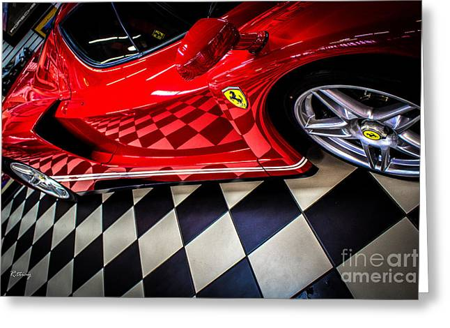 Rene Triay Photography Greeting Cards - Ferrari Enzo in the Winners Circle Greeting Card by Rene Triay Photography