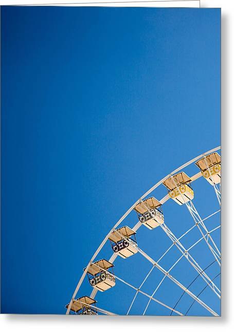 Rides Greeting Cards - Ferris Wheel 1 Greeting Card by Rebecca Cozart