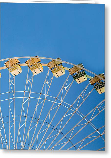 Ferris Wheel Greeting Cards - Ferris Wheel 2 Greeting Card by Rebecca Cozart