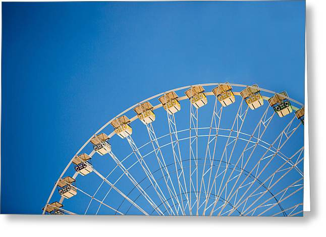 Ferris Greeting Cards - Ferris Wheel 3 Greeting Card by Rebecca Cozart