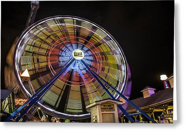 Goff Greeting Cards - Ferris Wheel at Kemah Greeting Card by Micah Goff