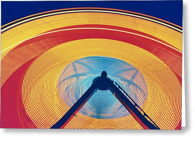 Amusements Greeting Cards - Ferris Wheel At Rose Festival Carnival Greeting Card by Panoramic Images
