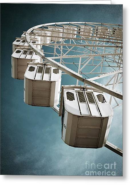 Rotation Photographs Greeting Cards - Ferris Wheel Greeting Card by Carlos Caetano