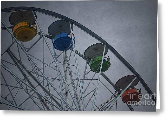 Rotate Greeting Cards - Ferris Wheel Greeting Card by Dave Gordon