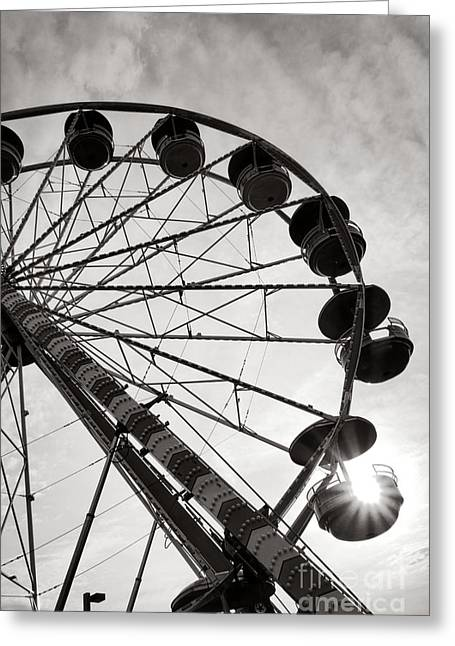 Ferris Wheels Greeting Cards - Ferris Wheeler Day Off Greeting Card by Olivier Le Queinec