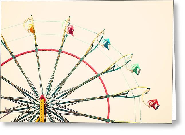 Carnival Art Greeting Cards - Ferris Wheel Fun Greeting Card by Kim Fearheiley