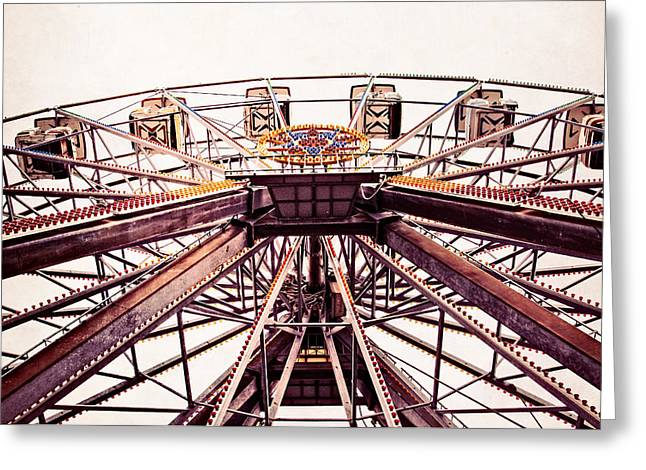 Jazzland Greeting Cards - Ferris Wheel in color Greeting Card by Andy Crawford