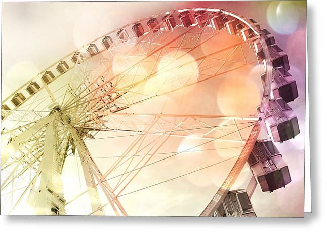 Nature Center Greeting Cards - Ferris Wheel in Paris Greeting Card by Marianna Mills