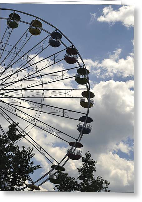 Kitchen Photographs Greeting Cards - Ferris Wheel in the Sky Greeting Card by Terry DeLuco