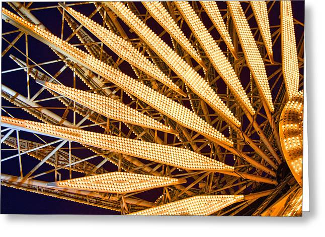 Wheel Pyrography Greeting Cards - Ferris Wheel Greeting Card by Jerry Hetrick