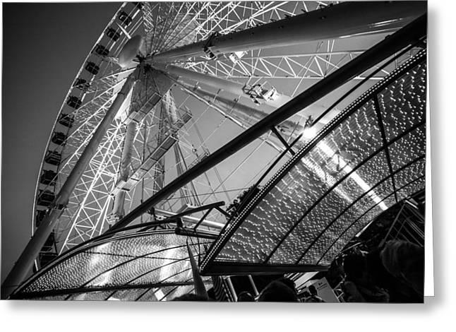 Whee Greeting Cards - Ferris Wheel Greeting Card by Judith Barath