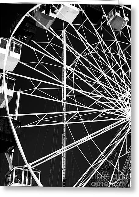 Ferris Wheel Lines Greeting Card by John Rizzuto