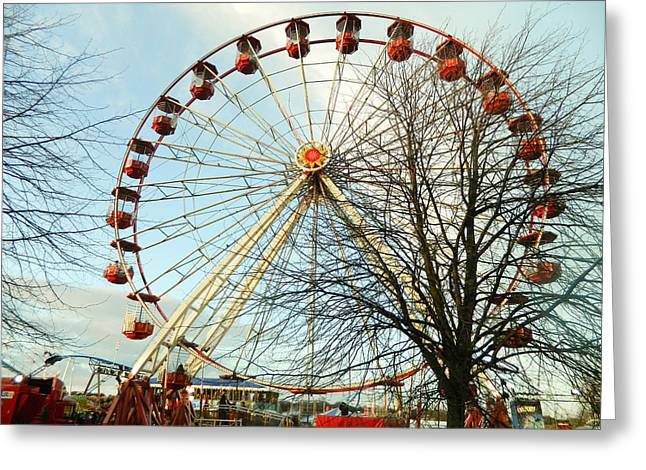 Weels Greeting Cards - Ferris Wheel Greeting Card by Marina Oliveira