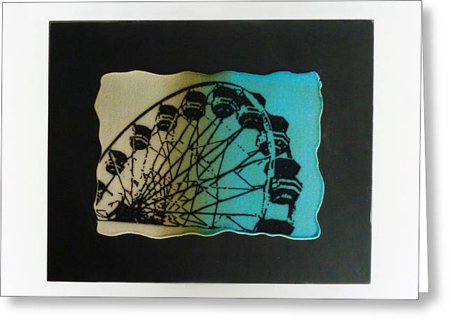 Wheels Glass Greeting Cards - Ferris Wheel Greeting Card by Mark Lubich