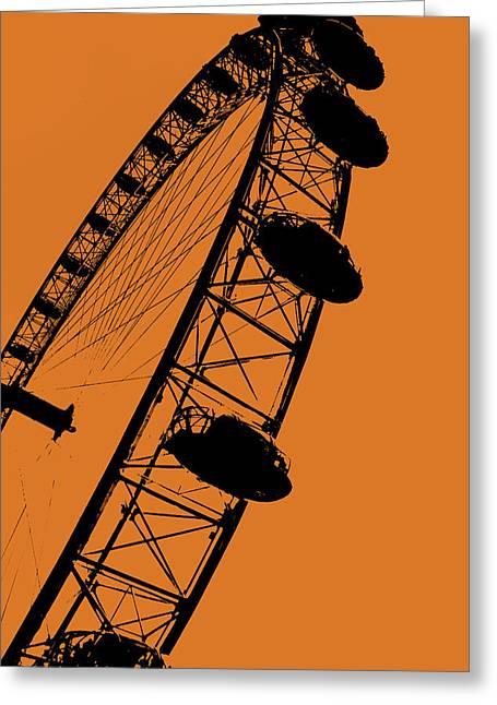 Sunset Greeting Cards - Ferris Wheel Greeting Card by Stephanie Hamilton