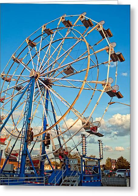 Ferris Wheel Greeting Card by Steve Harrington