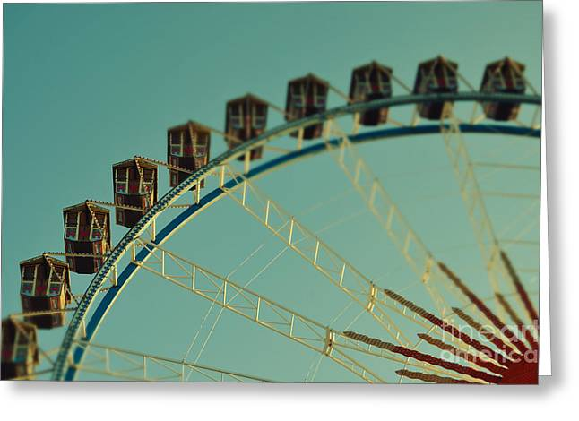 Muenchen Greeting Cards - Ferris Wheel tilt shift Octoberfest in Munich Greeting Card by Sabine Jacobs