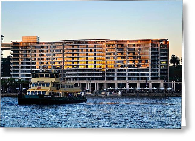 Toaster Greeting Cards - Ferry and the Toaster Greeting Card by Kaye Menner