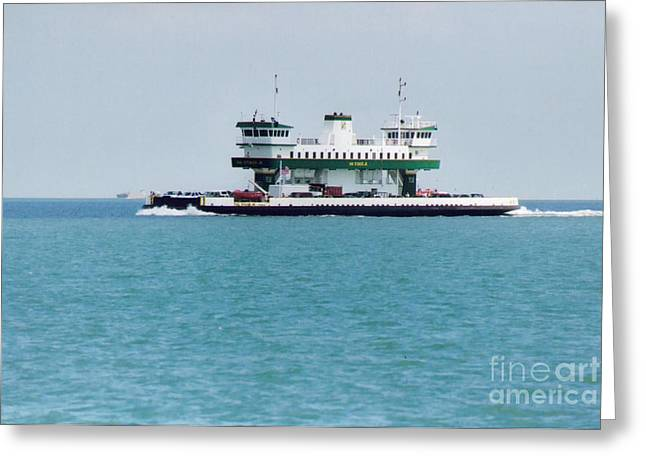 Galveston Greeting Cards - Ferry at Galveston Greeting Card by Ruth  Housley