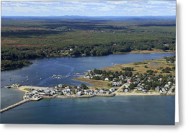 New England Village Greeting Cards - Ferry Beach, Saco Greeting Card by Dave Cleaveland