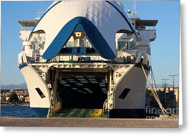 City Trip Greeting Cards - Ferry Boat Ready for Departure Greeting Card by Kiril Stanchev