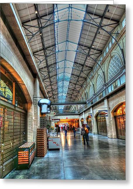 Ferry Building Greeting Cards - Ferry Building at Embaradero Greeting Card by David Bearden
