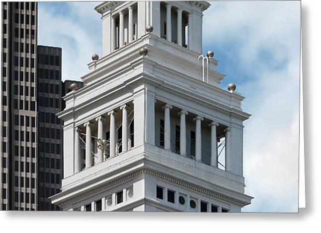 Ferry Building Clock Tower Greeting Card by Jo Ann Snover
