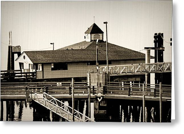 Steilacoom Greeting Cards - Ferry Loading Dock Greeting Card by Roger Reeves  and Terrie Heslop