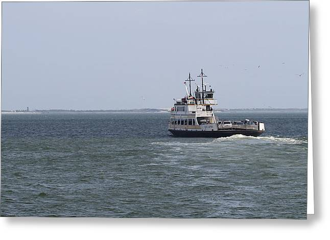Photographers Conyers Greeting Cards - Ferry to Ocracoke 2 Greeting Card by Cathy Lindsey