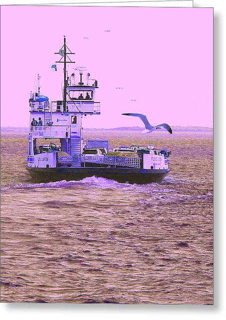 Photographers Conyers Greeting Cards - Ferry To Ocracoke 3 Greeting Card by Cathy Lindsey