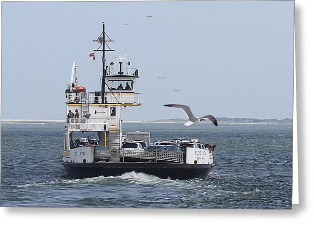 Photographers Conyers Greeting Cards - Ferry To Ocracoke 4 Greeting Card by Cathy Lindsey