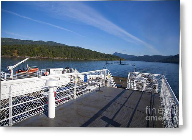 Ferry With Maxwell Greeting Card by Graham Foulkes
