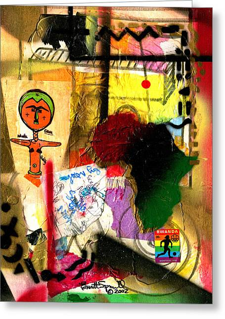 Everett Spruill Mixed Media Greeting Cards - Fertility - Ashante - Ghana - 2002 Greeting Card by Everett Spruill