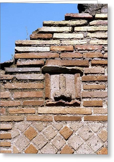 Phallus Greeting Cards - Fertility Symbol, Pompeii Greeting Card by Pasquale Sorrentino