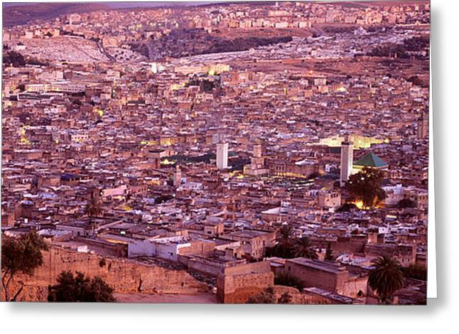 Africa-north Greeting Cards - Fes, Morocco Greeting Card by Panoramic Images