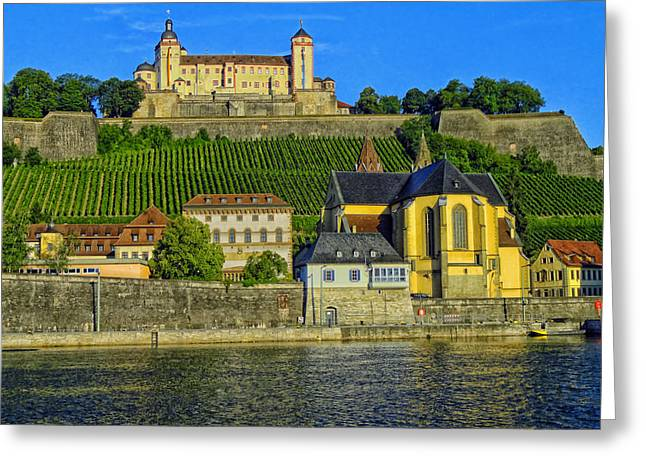 Recently Sold -  - Historic Architecture Greeting Cards - Feste Marienberg - Wurzburg Germany Greeting Card by Mountain Dreams