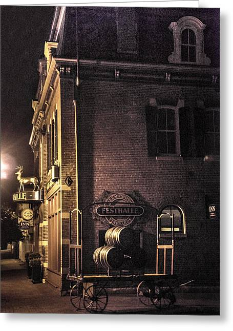 Festivities Greeting Cards - Festhalle Nocturne Greeting Card by William Fields