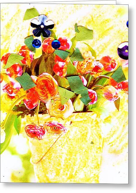 Surprise Pastels Greeting Cards - Festival Floral Greeting Card by Anne-Elizabeth Whiteway