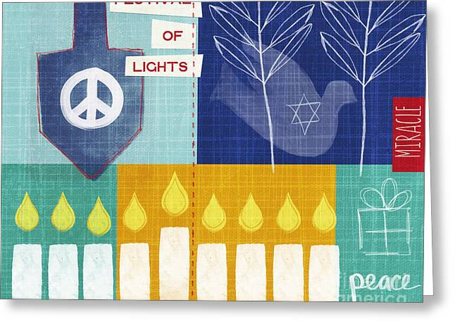 Festival Of Lights Greeting Card by Linda Woods