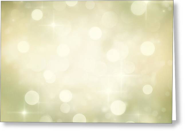 Mythja Greeting Cards - Festive bokeh background Greeting Card by Mythja  Photography