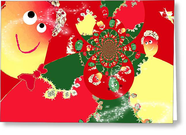 Festivities In Abstract Greeting Card by Jan Steadman-Jackson