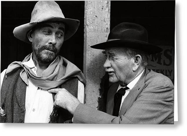 Old Tv Photographs Greeting Cards - FESTUS and DOC Greeting Card by Daniel Hagerman