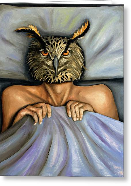 Surreal Humor Greeting Cards - Fetish Nightmare 2 Greeting Card by Leah Saulnier The Painting Maniac