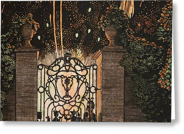 Feu d artifice Greeting Card by Konstantin Andreevic Somov
