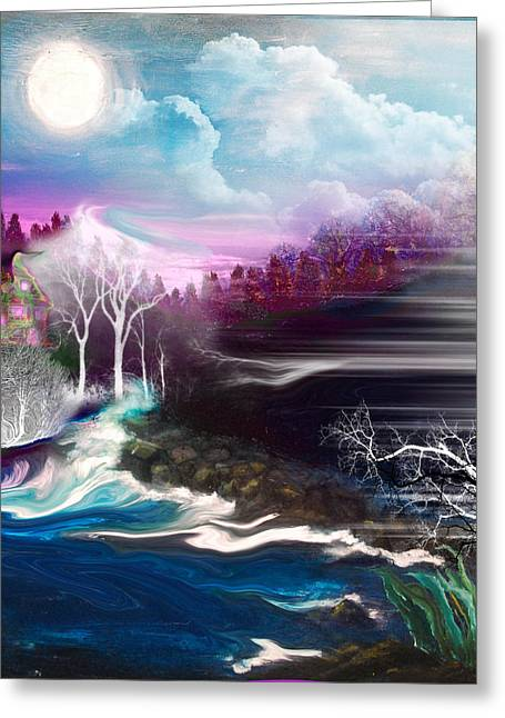 Pretends Art Greeting Cards - Fey Landscape Greeting Card by Patricia Motley